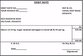 Debit Note Letter Sample Stunning Debit Note And Credit Note Explained With Meaning And Uses