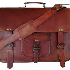 16 inch leather uni real leather messenger bag for laptop briefcase satchel