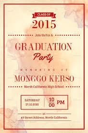 Free Template For Graduation Invitation 33 Graduation Invitation Templates Psd Ai Word Free Premium