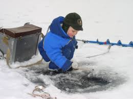 Image result for kid ice fishing