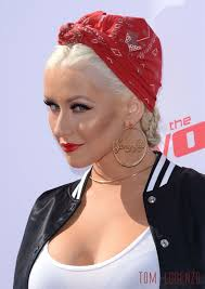 christina aguilera at the voice karaoke for charity event