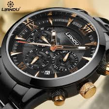 popular engraved watches buy cheap engraved watches lots from liandu men s fashion business watch chronograph unique engraved dial military sport watches relogio masculino esportivo