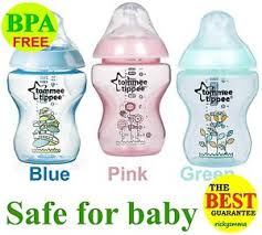 Tommee Tippee Pink Decorated Bottles Tommee Tippee Closer to Nature Blue Green Pink Decorated Bottle 77