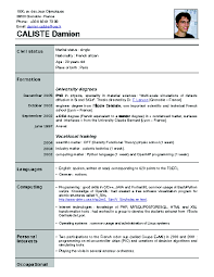 Waiter Resume Template One Page Resume Examples Best Cross