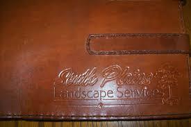 custom made custom leather business checkbook cover