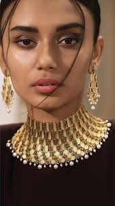 Gold Cheek Necklace Design Gold Jewellery Gold Necklace Set Gold Jewellery Necklace