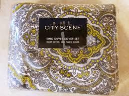 city scene milan gry king duvet cover set duvet cover 2 king pillow shams new