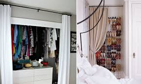 Cool amazing diy closet door curtains ideas Ruth View In Gallery Homedit How To Reinvent Your Storage Areas With Closet Curtains
