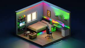3D Gaming Isometric Room (Razer Themed ...