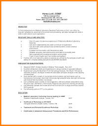 9 Medical Laboratory Technician Resume Resume Cover Note