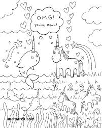 Innovation Unicorn Rainbow Coloring Pages Printable Free Coloring