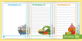 shopping lists fruit and veg shop role play shopping lists fruit and