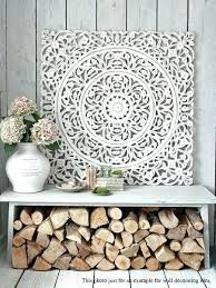 white carved wall decor fl wood art panel by more pier 1 amp ornate w