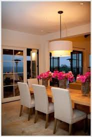 like this clean dining room ensemble with the bright pop of color