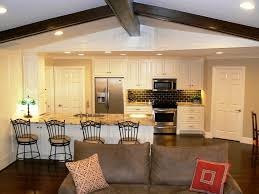 Open Concept Kitchen Floor Plans With Family Room Bath Dining Island Design  Idea: Full ...