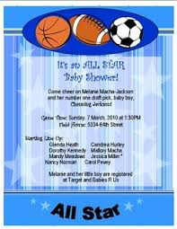 Sports Themed Baby Shower Invites Sports Themed Ba Shower Baby Shower Invitations Sports Theme