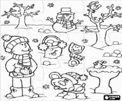 Kleurplaat Puzzel Van Een Kind In De Winter Kleurplaten