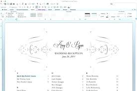Table Seating Templates Reception Table Seating Chart Template For Wedding Free Templates