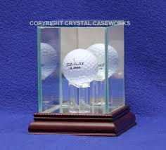 Golf Ball Display Stand Amazing SINGLE GOLF BALL GLASS DISPLAY CASE CUSTOM STAND Custom Display Case
