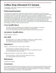 Barista Resume Example Resume Sample Starbucks Barista Resume No ...