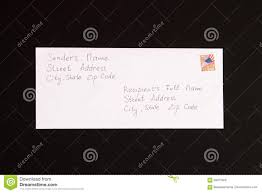 Letter Sender And Receiver Format Stock Image Image Of Letters