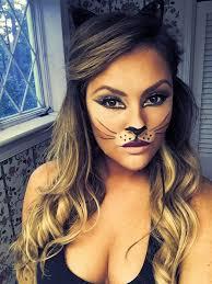cat face makeup tiger kitty bunny