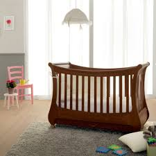 italian contemporary furniture baby tulip antique walnut wooden crib cot bed for newborns kids toddlers bedroom