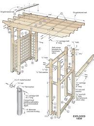 Small Picture Garden Arbor Plans Designs Markcastroco