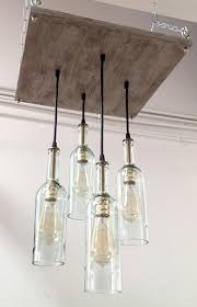recycled wine bottle chandelier industrial pertaining to lighting remodel 5