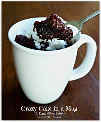 crazy cake in a mug no eggs milk or er ready in minutes