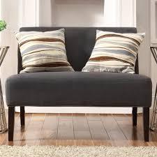 Furniture: Dark Grey Linen Indoor Armless Loveseat By Inspire Q - Armless  Loveseat Banquette