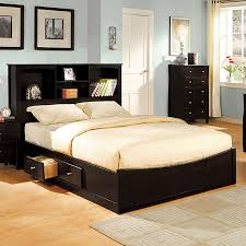 Bedding Queen Size Platform Bed With Drawers King Bed Frame Sleigh