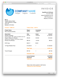 Invoice Page AppleSource Software TimeNet Invoice Templates Time Tracking 1
