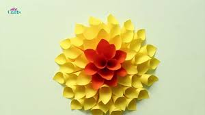 Dahlia Flower Making With Paper Diy Creative Paper Dahlia Flower Making Tutorial Diy Crafts