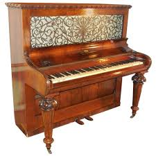 1856 Victorian Antique Upright Grand Piano For Sale at 1stdibs