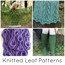 Leaf Knitting Pattern Cool Leaf Knitting Patterns On Craftsy