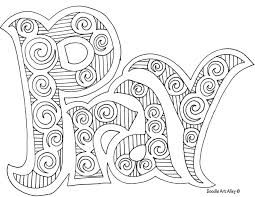 Doodle Art Pray Nice Coloring Page