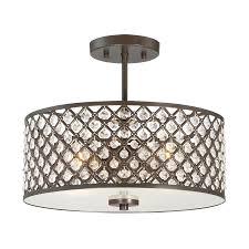 quoizel juliana 14 5 in w bronze etched glass semi flush mount light