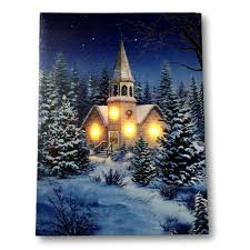 Canvas Christmas Prints With Led Lights Pin On Art