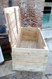 Patio From Pallets Wooden Pallet Chest Space Saving Solutions Pallet Chest
