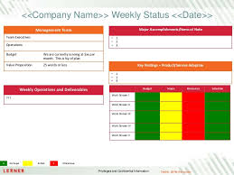 How To Write A Weekly Report Template Executive Status Report Template
