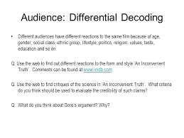 nq higher media studies media analysis non fiction ppt video 28 audience differential decoding