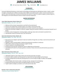 Teacher Resume Examples Best 48 Elementary Teacher Resume Examples Mhidglobalorg