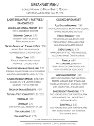Breakfast Menu Template - 2 Free Templates In Pdf, Word, Excel Download