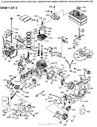 Tecumseh hmsk100 159119w parts diagram for engine parts list 1