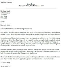 Teacher Assistant Cover Letter Chechucontreras Com