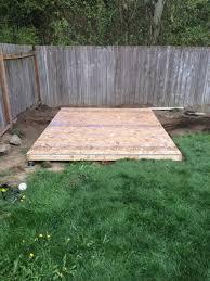 flipped floor and installed 34 osb subfloor backyard home office build