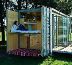 Port-a-Bach Shipping Container Holiday Home. Small scale prefab green  sustainable shipping