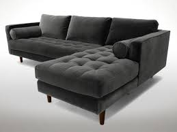 tufted furniture trend. Plain Trend Gray Tufted Sectional Throughout Furniture Trend E