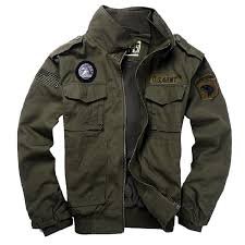 men s style jackets pilot coat 101st airborne division coats usa army er jacket with eagle metal badge